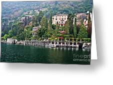 Rainy Day In Como Greeting Card