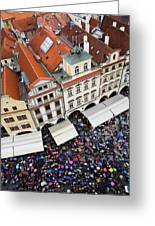 Rainy Day In Prague-2 Greeting Card