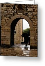 Rainy Day In Provence France Greeting Card