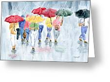 Rainy Day In Rome Greeting Card