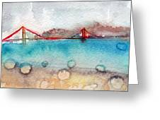 Rainy Day In San Francisco  Greeting Card