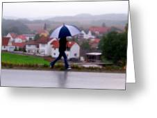 Rainy Day In Sembach Greeting Card