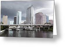 Rainy Day In Tampa Greeting Card