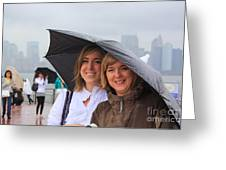 Rainy Day In The Big City Greeting Card