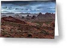 Rainy Day In The Desert Greeting Card