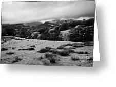 Rainy Day In The Lake District Near Loughrigg Cumbria England Uk Greeting Card