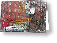 Rainy Day Nyc 2 Greeting Card by Sarah Loft