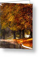 Rainy Day Path Greeting Card