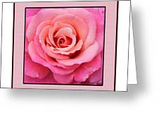 Rainy Day Rose Square Greeting Card