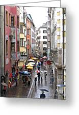 Rainy Day Shopping Greeting Card