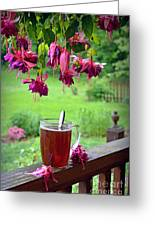 Rainy Day Tea Greeting Card