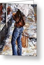 Rainy Day - Woman Of New York 15 Greeting Card