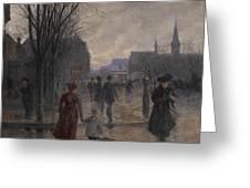 Rainy Evening On Hennepin Avenue Greeting Card