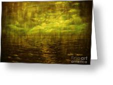 Rainy Night Over Norway-original Sold-buy Giclee Print Nr 20 Of Limited Edition Of 40 Prints Greeting Card