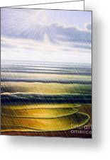 Rainy Seascape Greeting Card