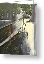 Rainy Street In Melbourne Greeting Card