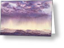 Rainy Sunset In New Mexico Greeting Card