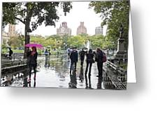 Rainy Washington Park  Greeting Card