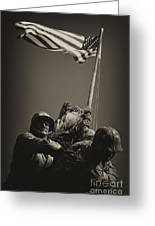 Raising The Flag On Iwo - Front Greeting Card