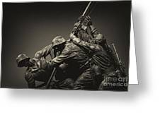 Raising The Flag On Iwo Greeting Card