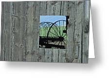 Rake And Barn Greeting Card by Doug Davidson