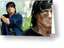 Rambo Artwork Greeting Card