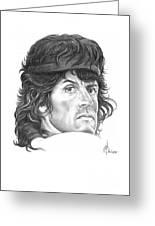 Rambo-sylvester-stallone Greeting Card by Murphy Elliott