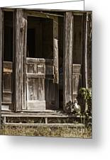 Ranch Cabin Old Door In Antique Color 3007.02 Greeting Card