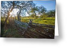 Ranch Fence Greeting Card