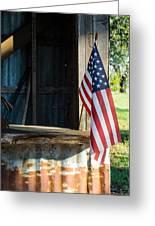 Ranch Flag Greeting Card