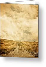 Ranch Gate Greeting Card