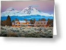 Ranch House And Sisters Greeting Card