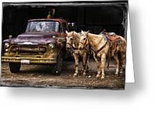Ranch Transportation Greeting Card