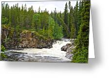 Rancheria Falls Along Alaska Highway In Yk-canada   Greeting Card