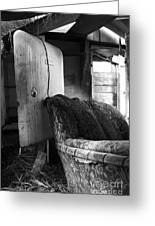 Ranchers House Black And White II Greeting Card