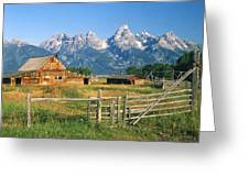 1m9392-ranchland And The Tetons Greeting Card