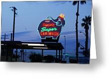 Rancho Super Car Wash Greeting Card