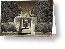 Ranchos Gate On Rice Paper Greeting Card
