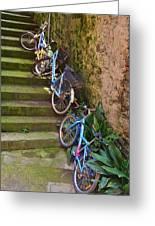 Range Of Bikes Greeting Card