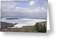 Rangeley Maine Winter Landscape Greeting Card