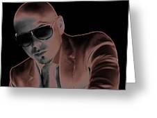 Rap Pitbull Greeting Card