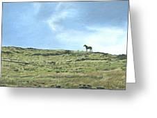 Rapa Nui Horse Greeting Card