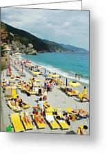 Rapallo Beach Greeting Card