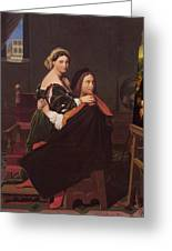 Raphael And The Fornarina 1814 Greeting Card