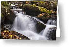 Rapids At Autumn Greeting Card by Andrew Soundarajan