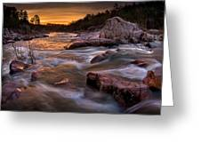 Rapids At Dawn Greeting Card