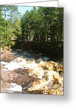 Rapids At The Riverbend Greeting Card