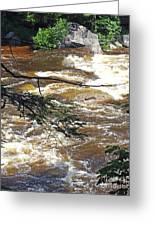 Rapids Of The Swift River Kancamagus Hwy View White Mountains Nh Greeting Card