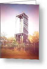 Rappelling Tower Greeting Card