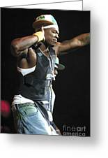 Rapper Fifty Cent Greeting Card